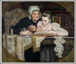 Reading | Jean-Eugène Buland | Oil Painting