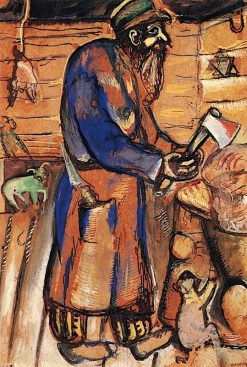 Butcher (also known as Grandfather)   Marc Chagall   Oil Painting