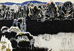 Reflected Forms (also known as Black Reflections) | David Milne | Oil Painting