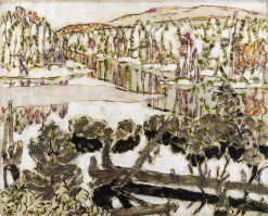 Pond at Big Moose (also known as Outlet of the Pond I) | David Milne | Oil Painting