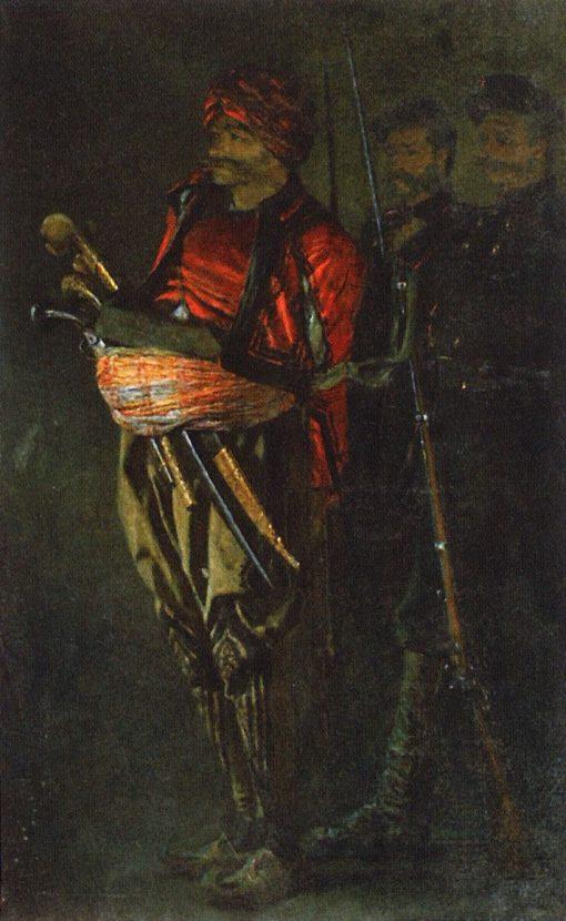 Albanian Warrior | Vasily Vasilevich Vereshchagin | Oil Painting