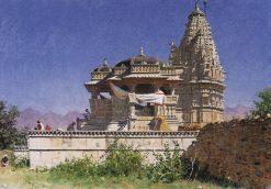 Temple in Adel Nur | Vasily Vasilevich Vereshchagin | Oil Painting