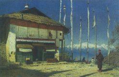 Buddhist Temple in Darjeeling | Vasily Vasilevich Vereshchagin | Oil Painting