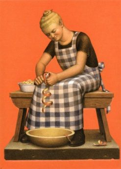 Hired Girl (also known as Hired Girl with Apples) | Grant Wood | Oil Painting
