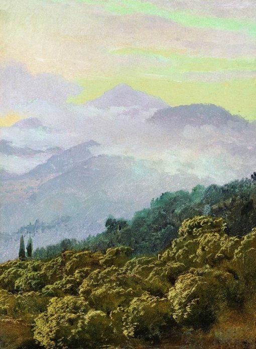 Crimean Mountains | Vasily Vasilevich Vereshchagin | Oil Painting
