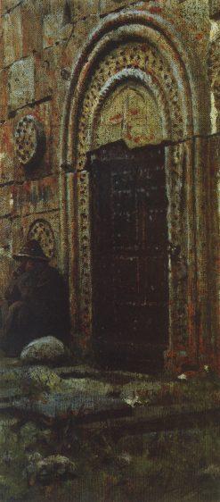 The Church Door | Vasily Vasilevich Vereshchagin | Oil Painting