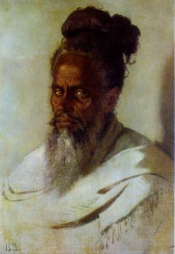 Head of an Indian Man | Vasily Vasilevich Vereshchagin | Oil Painting