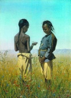 Two Children | Vasily Vasilevich Vereshchagin | Oil Painting