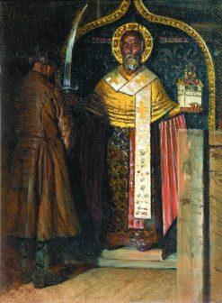 The Icon of St. Nicholas | Vasily Vasilevich Vereshchagin | Oil Painting