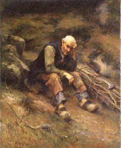 Man with Firewood   Marc-Aurele de Foy Suzor-Cote   Oil Painting