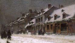 Old St. Louis Street on a Dull Winter Day | Marc-Aurele de Foy Suzor-Cote | Oil Painting