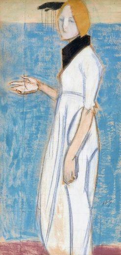 Girl in White | Helene Schjerfbeck | Oil Painting