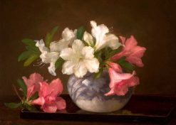 Bowl of Flowers   Anna Eliza Hardy   Oil Painting