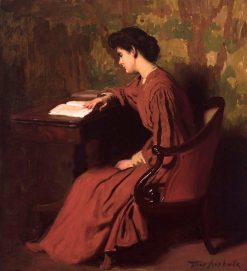 Woman Reading at a Desk | Thomas P. Anshutz | Oil Painting