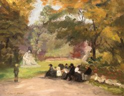 Figures in the Luxembourg Gardens | Robert Henri | Oil Painting