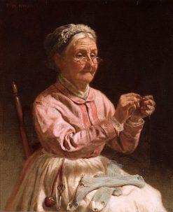 Threading the Needle | Thomas Waterman Wood | Oil Painting