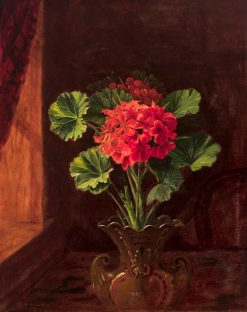 Geranium   Edward Edmondson   Oil Painting