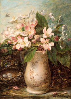 "Vase of Apple Blossoms ""Remember Me"" 