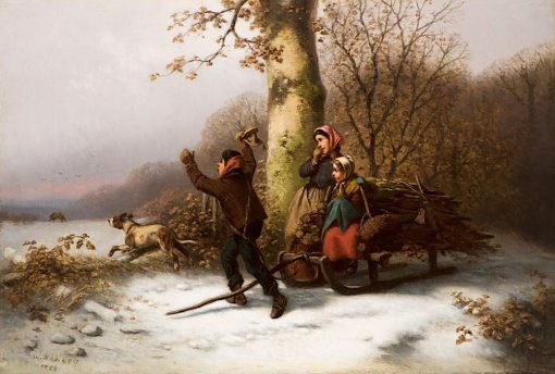 The Chase is On   William Tylee Ranney   Oil Painting