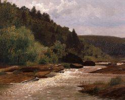 View on an Shenandoah River   Thomas P. Anshutz   Oil Painting