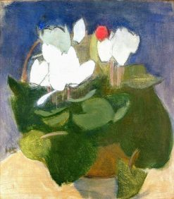 Cyclamen in a Vase | Helene Schjerfbeck | Oil Painting