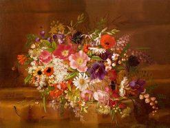 Still Life with Flowers   Adelheid Dietrich   Oil Painting