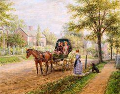 A Sunday Visit   Edward Lamson Henry   Oil Painting