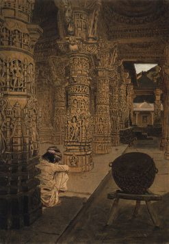 Columns in the Temple on Mount Abu | Vasily Vasilevich Vereshchagin | Oil Painting