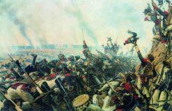 The End of the Borodino Battle | Vasily Vasilevich Vereshchagin | Oil Painting
