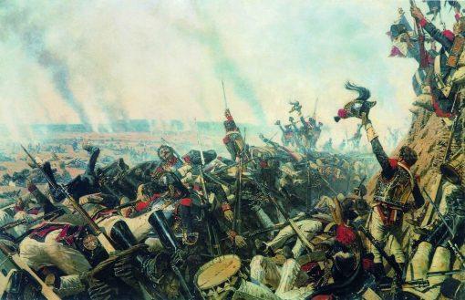 The End of the Borodino Battle   Vasily Vasilevich Vereshchagin   Oil Painting