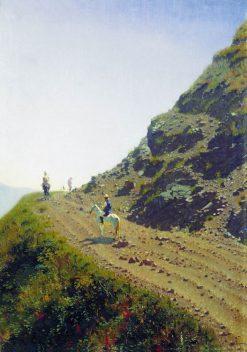 The Mountain Road | Vasily Vasilevich Vereshchagin | Oil Painting