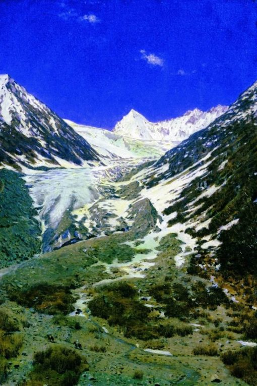 Mountain Landscape   Vasily Vasilevich Vereshchagin   Oil Painting