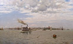 New York Harbor from Bedloe's Island | August Gottfried Ludwig Fricke | Oil Painting