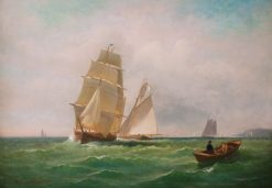 Sailing off the Coast | Charles Henry Gifford | Oil Painting