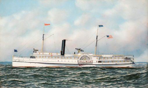 Portrait of the Paddlewheel Steamer Edgemont | Antonio Jacobsen | Oil Painting