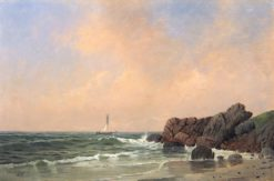 Scene along the Massachusetts Coast | Thomas Clarkson Oliver | Oil Painting