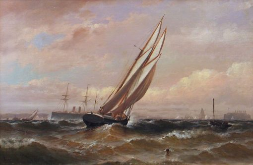 New York Harbor Scene | Granville Perkins | Oil Painting