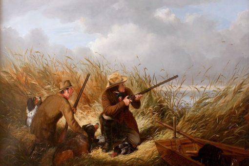 Duck Shooting over Decoys | Arthur Fitzwilliam Tait | Oil Painting