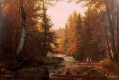 Fishermen in a Wooded Landscape | Thomas Worthington Whittredge | Oil Painting