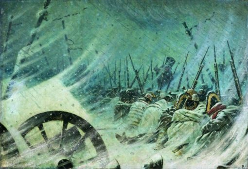 The Retreat of the French Army | Vasily Vasilevich Vereshchagin | Oil Painting