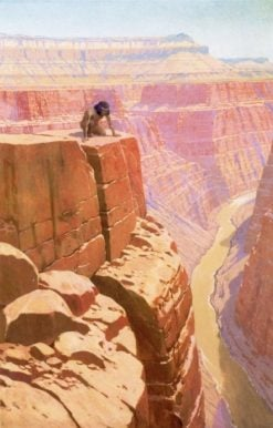 In the Abyss: Grand Canyon | Fernand H. Lungren | Oil Painting