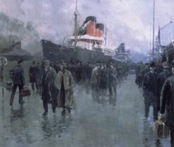 Liverpool (also known as Docking a Liner) | Fernand H. Lungren | Oil Painting