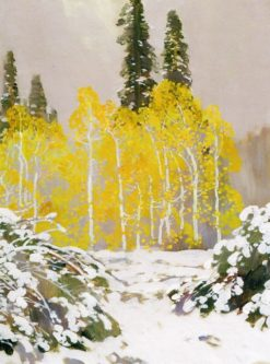 Aspens in the Snow | Fernand H. Lungren | Oil Painting
