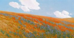 Poppies and Lipin | Fernand H. Lungren | Oil Painting