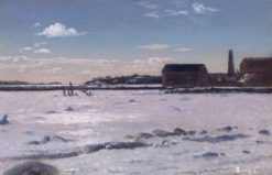 Fairhaven Harbor (also known as Old Tack Works Wharf) | William Bradford | Oil Painting