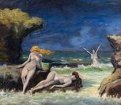 Nude Women on the Beach | Louis M. Eilshemius | Oil Painting