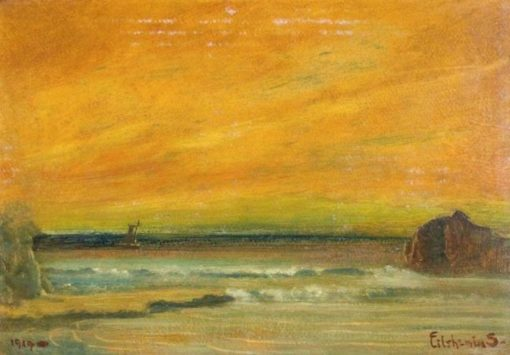 Beach Scene | Louis M. Eilshemius | Oil Painting