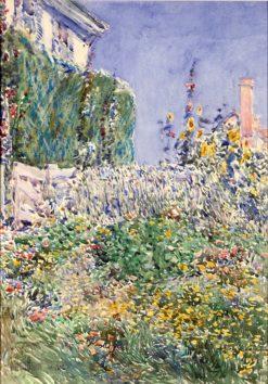 Thaxter's Garden | Childe Hassam | Oil Painting