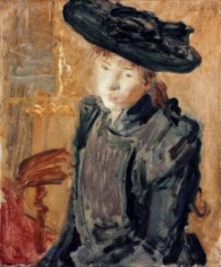 Girl in a large hat | Philip Wilson Steer | Oil Painting