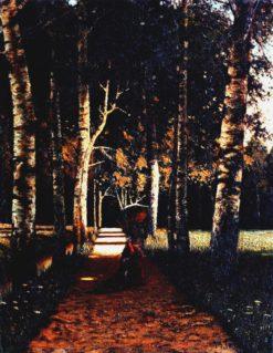 Alley in the Park | Mikhail Tkachenko | Oil Painting